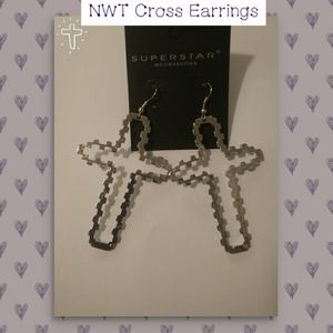 Cross Earrings NWT VERY CUTE!